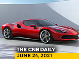 Video : 2021 BMW 5 Series Prices | Reliance Battery | New Tata Board | Ferrari 296 GTB