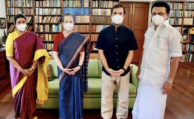Photo of Tamil Nadu Chief Minister MK Stalin Meets Sonia Gandhi, Rahul Gandhi In Delhi