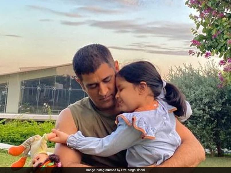 MS Dhoni's daughter, Ziva, shares the message with the horse, which the fans find lovable.  See Pic |  Cricket News