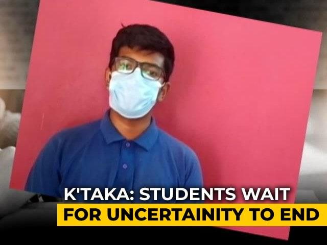 Video : Karnataka Students Await Decision On State Board Exams