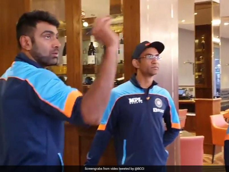 "India vs New Zealand: Ravichandran Ashwin Plays Darts with Coaches WTC Final ""Rain Break"" |  Cricket News"
