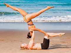 Aashka Goradia And Husband Brent Goble Are Serving Acro-Yoga Poses One Pic At A Time