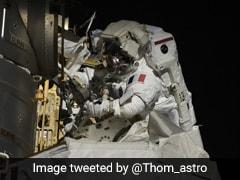 US, French Astronauts Make International Space Station Spacewalk