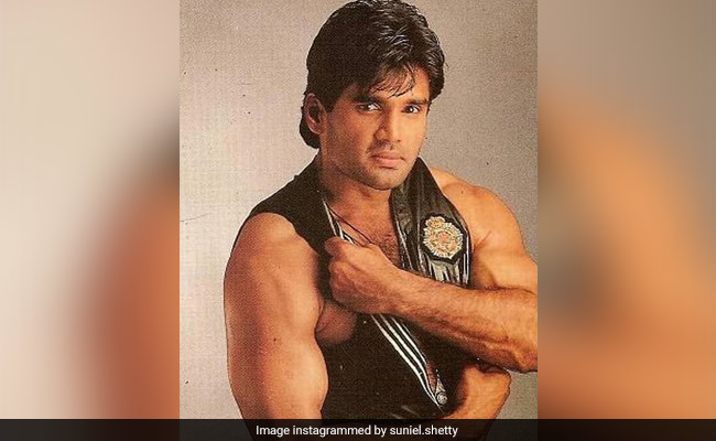 A Pic From The 'Days' When Suniel Shetty 'Would Do Anything To Show Off His Bicep'. See Here