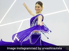Urvashi Rautela Is A Traditional Ethnic Beauty In A Blue <i>Ghagra Choli</i> As She Breaks Out Her <i>Kathak</i> Moves