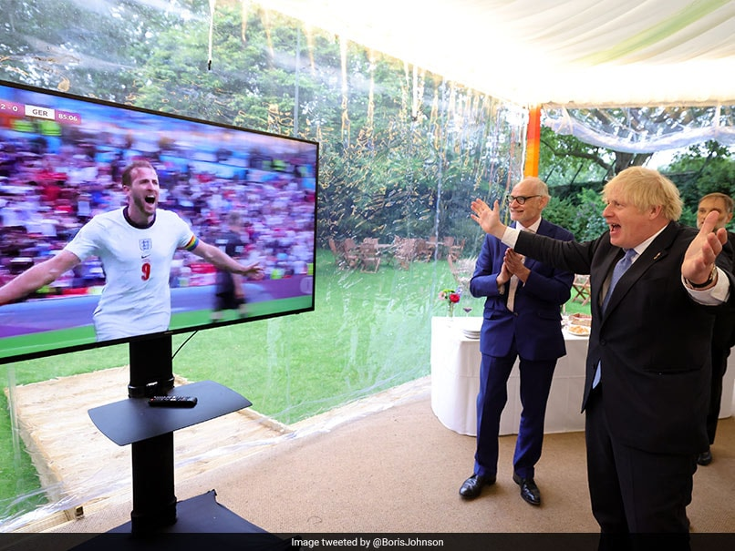 """""""Bring It Home"""": Boris Johnson Reacts As England Beat Germany To Reach Euro 2020 Quarterfinals"""