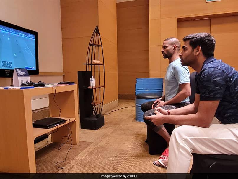 Shikhar Dhawan, Bhuvneshwar Kumar Enjoy Virtual Football Ahead Of Sri Lanka Tour