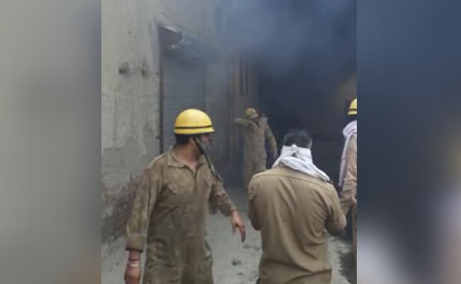 6 Feared Missing After Massive Fire At Shoe Factory In West Delhi
