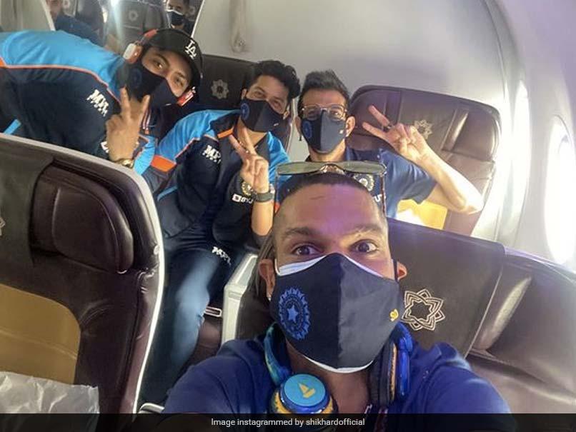 """Next Stop, Sri Lanka!"": India Skipper Shikhar Dhawan Shares In-Flight Selfie Before Take-Off"