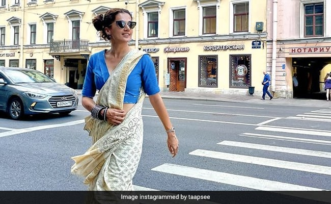 Taapsee Pannu, Running In A Saree On The Streets Of Saint Petersburg, Is Typically Her