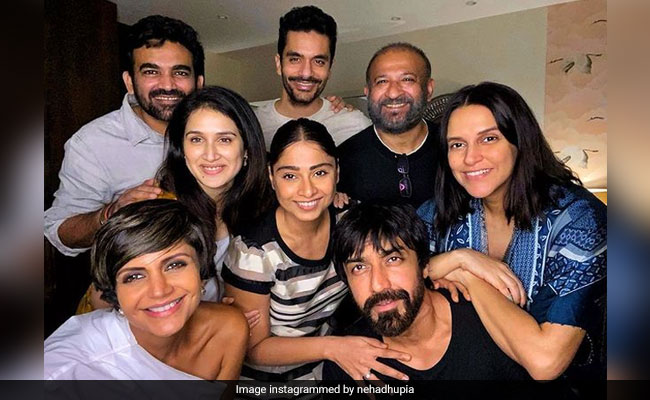 'Shaken Up And In Shock': Neha Dhupia Posts Pic Of Raj Kaushal With Friends