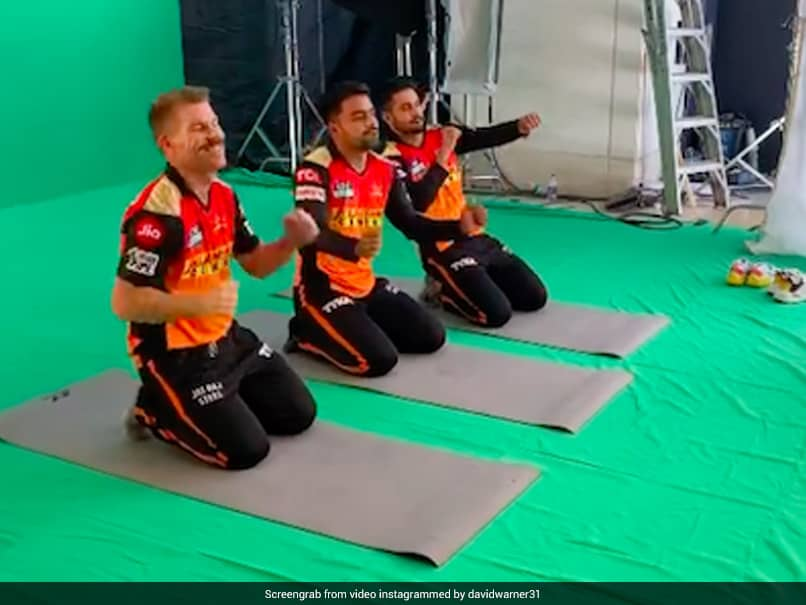 Watch: David Warner Dances With Rashid Khan And Manish Pandey While Shooting For A Commercial