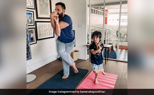 International Yoga Day 2021: Inspired By Kareena Kapoor, Saif Ali Khan And Taimur Roll Out The Yoga Mat
