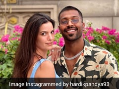 """Natasa Stankovic Approves Hardik Pandya's Eye-Boggling Look With """"Fiery"""" Comment. See Pic"""