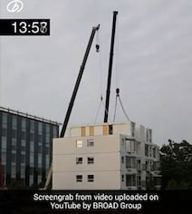 Watch: This 10-Storey Building Was Constructed In Just Over A Day