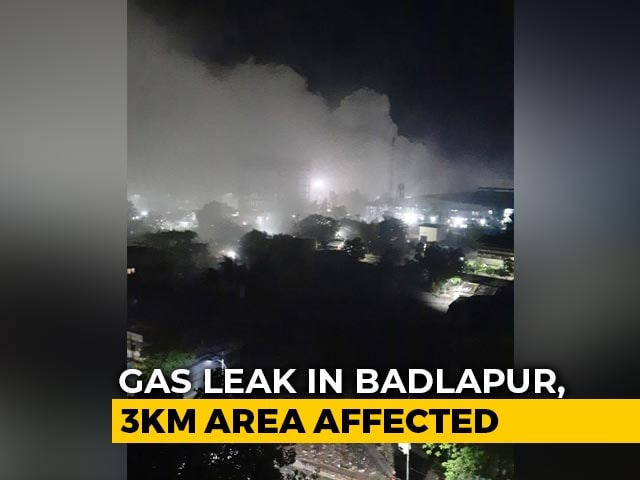 Video : Gas Leak At Maharashtra Plant Creates Panic; Under Control, Say Officials