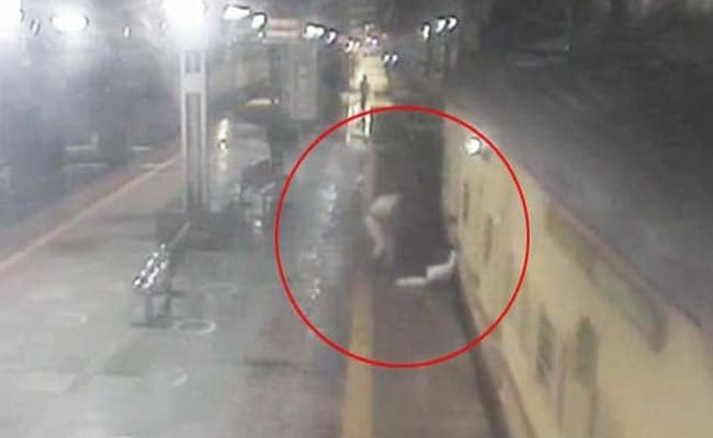 Watch: Narrow Escape In Bid To Board Moving Train, Thanks To Rail Staff