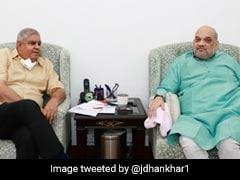 West Bengal Governor Jagdeep Dhankar Meets Amit Shah