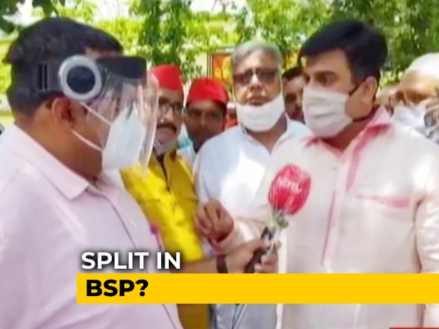 "Video : Samajwadi Party Not ""Oppressive"": Leader After 6 Expelled BSP MLAs Meet Akhilesh Yadav"