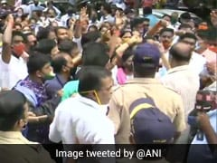 Shiv Sena, BJP Workers Clash In Mumbai Over Ayodhya Land Deal