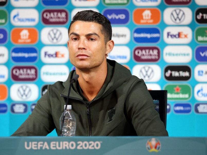 UEFA EURO 2020: Cristiano Ronaldo pointedly removed two soft drinks bottles from his table during a press meet, opting for a bottle of water.