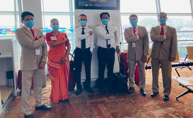 First International Flight By Fully-Vaccinated Crew Takes Off From Delhi