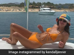 Kendall Jenner Is Brighter Than A Sunny Day In Her Bright Bikini