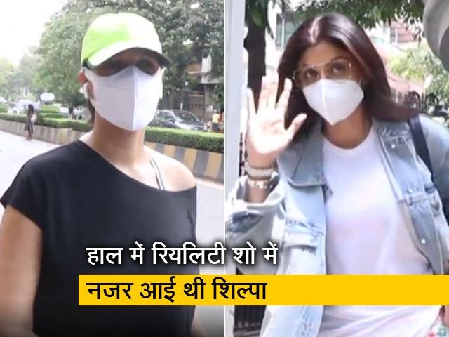 Videos : बांद्रा में दिखाई दीं बॉलीलुड एक्ट्रेस शिल्पा शेट्टी और नेहा धूपिया