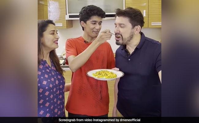 """Madhuri-Shriram Nene's Verdict On Son Arin's """"First Cook In A Long Time"""""""