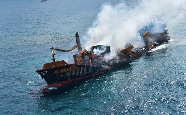 Data Recovered From Fire-Stricken Ship Sinking Off Sri Lanka