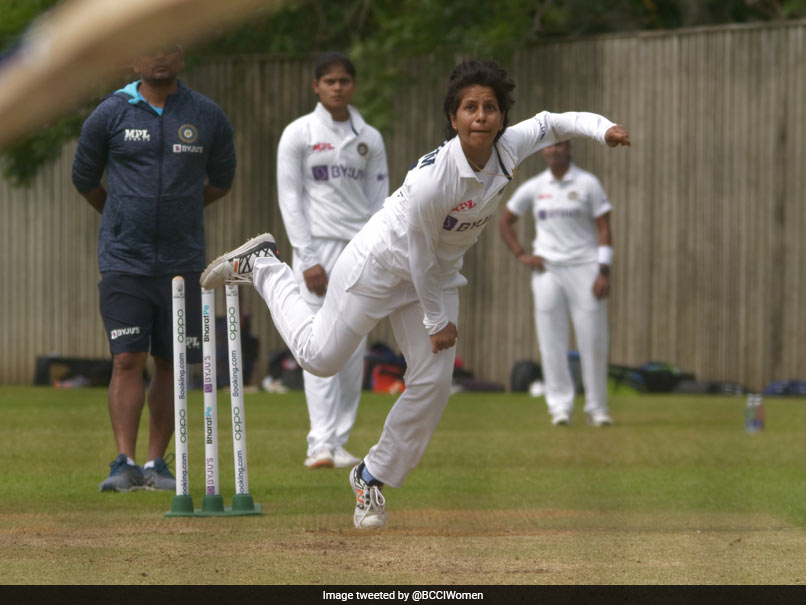 India Womens Cricket Team Hits Nets Ahead Of Test Against England. Poonam Yadav Leads Practice Session