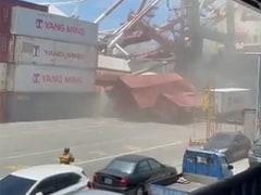 Watch: Ship Hits Crane, Sends It Crashing Down. Mayhem Captured In Viral Video