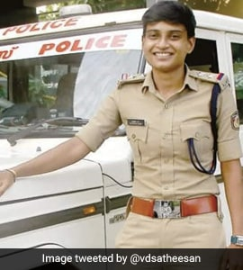 Kerala Woman Anie Siva Who Once Sold Lemonade, Ice Cream For A Living Is  Now A Cop