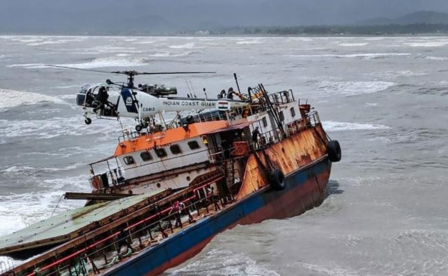 Coast Guard Rescues Crew Of Sinking Ship Off Maharashtra's Raigad Coast