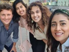 In Russia, Taapsee Pannu Caught Up With Shriya Saran And Husband Andrei Koscheev
