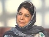 Video : Mehbooba Mufti Says Won't Contest Polls Until Article 370 Restored In J&K