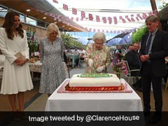 Video: Queen Elizabeth Cuts Cake With Ceremonial Sword On Sidelines Of G7