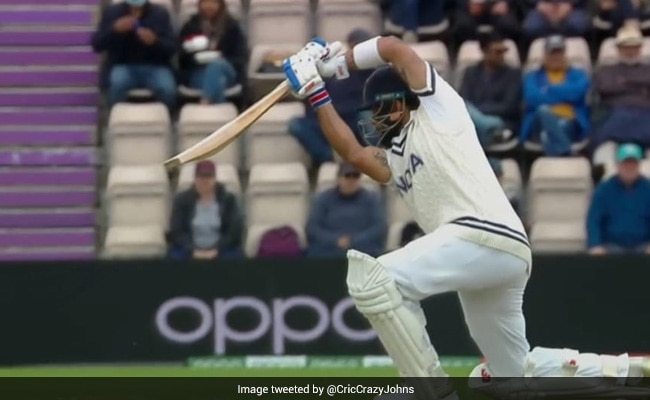 VIDEO: Virat Kohli's Exotic Cover-Drive Off Neil Wagner During WTC Final at Southampton Can be Watched on Loop