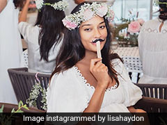 Lisa Haydon's Baby Shower Was Everything Dreamy With Her White Dress And Floral Perfection
