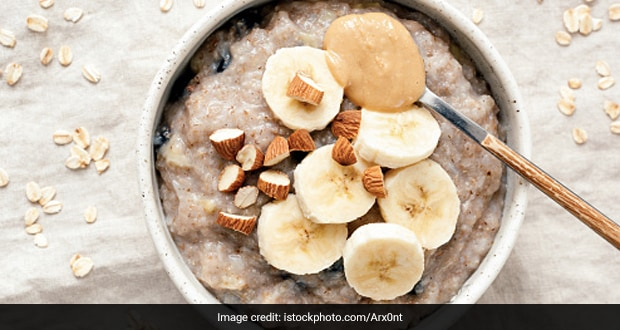 Loaded With Bananas And Peanut Butter, This Oatmeal Bowl Is Perfect To Start Your Day With