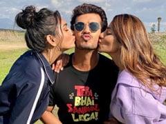 <i>Khatron Ke Khiladi</i>: Nikki Tamboli Shares Pics With Arjun Bijlani And Sana Makbul. Her ROFL Caption Takes The Cake