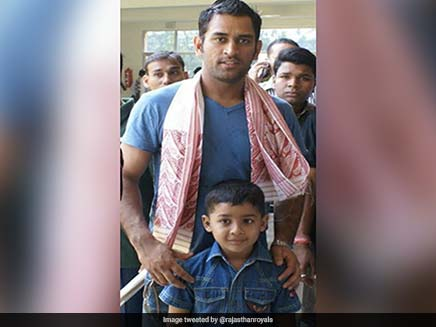 Rajasthan Royals shared the long history of Riyan Parag with MS Dhoni on Twitter.  See Pic    Cricket News