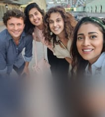 In Russia, Taapsee Caught Up With Shriya Saran And Husband Andrei