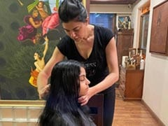 """Sushmita Sen, Who Is Daughter Alisah's """"Official Hairdresser,"""" Posted This"""