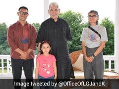 """Met Renowned Actor"": J&K Lt Governor In Photo With Aamir Khan, Kiran Rao"