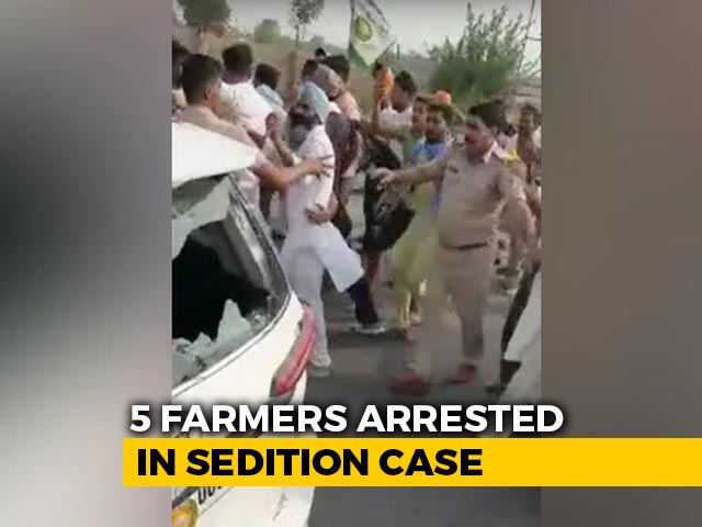 Video : Farmers' Protest In Haryana Over Arrests In Alleged Attack On BJP Leader