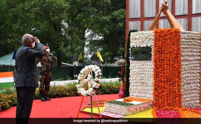 Nation Salutes Soldiers Who Laid Down Their Lives For Country's Safety: President Kovind