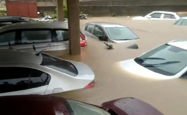 Video: Cars Submerged As Heavy Rain Leaves Ranchi Roads Flooded