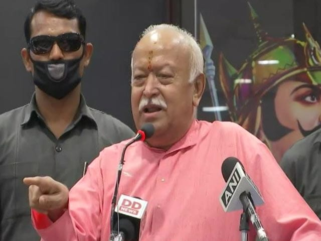 """Video : """"Can't Be Dominance Of Hindus Or Muslims, Only Of Indians"""": RSS Chief"""
