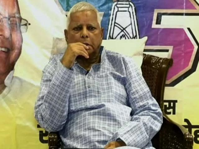 Video : Lalu Yadav's First Public Appearance After Coming Out Of Jail